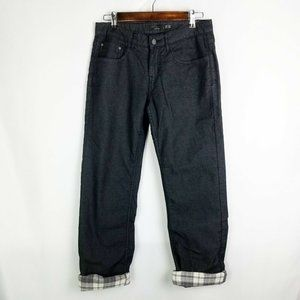 PrAna Fleece Lined Straight Leg Jeans